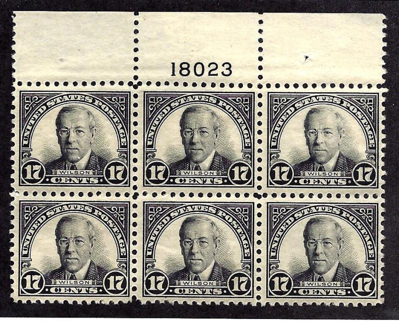 623 Mint,OG,NH... Plate Block of 6... SCV $325.00