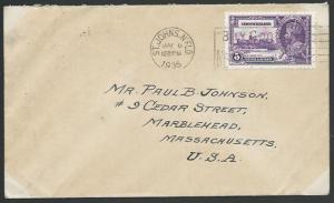 NEWFOUNDLAND 1935 5c Jubilee on cover - first day cancel...................53082