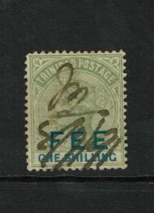 Trinidad 1887 FEE Reveune Stamp / Used - S6277
