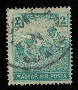Magyar, 1920-1924, Reaper, Inscription: MAGYAR KIR.POSTA, 2 Korona (T-9318)