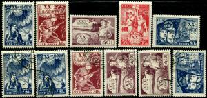 USSR RUSSIA #693-697 Stamps Collection Postage Set 1938 MINT LH OG Used
