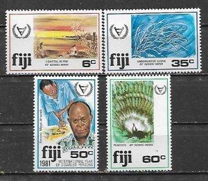 Fiji MNH 438-41 Interesting Set SCV 1.55