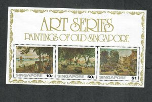 Singapore Sc#256a M/NH, Souv. Sheets, Cv. $21