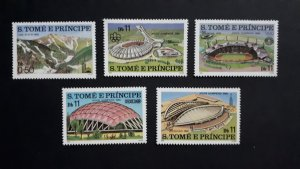 Sport - Olympics - Sao Tome and Principe 1980. ** MNH Complete set of 5