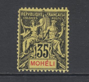 Moheli Sc 9 MLH. 1906 35c Navigation & Commerce, Fournier Forgery
