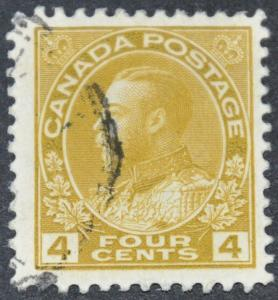 DYNAMITE Stamps: Canada Scott #110 (crease) - USED