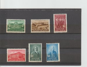 Hungary  Scott#  529-534  MH  (1938 Debrecen College)