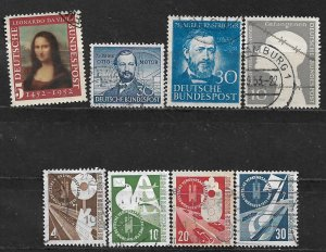 COLLECTION LOT OF 8 GERMANY 1952+ STAMPS CV+ $62