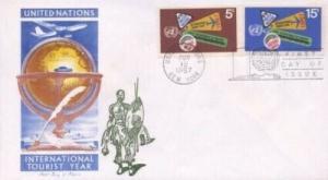 UN #175/176 INT'L TOURIST YEAR - Overseas Mailer