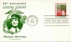 US FDC #UX56 Women marines, Jackson (0240)