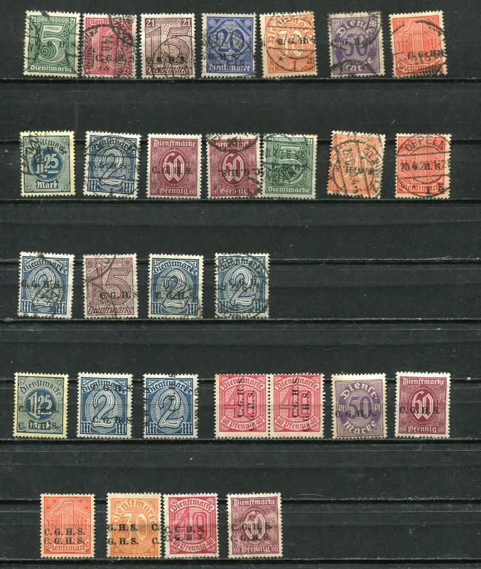 Germany Poland 1920 upper Silesia  Accumulation Used Unused Overprint 7053
