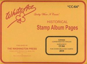 WHITE ACE 2019 Canada Commemorative Singles Stamp Album Supplement CC-64