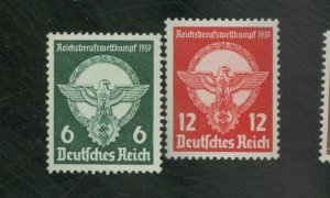 Germany #490-1 MINT F-VF 490 No gum Cat $12