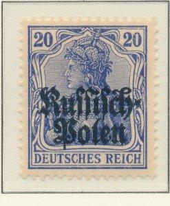 Poland, German Occupation Stamp Scott #N4, Mint Hinged