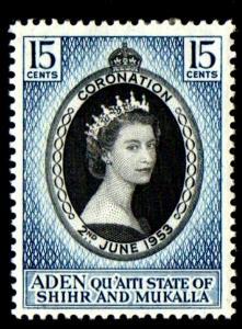 ADEN/QUAITI - 1953 - QE II - CORONATION ISSUE - MINT - MNH - SINGLE!