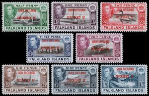 Falkland Islands - South Shetlands Scott 5L1-5L8 (1944) Mint NH-VLH VF Cmplt Set