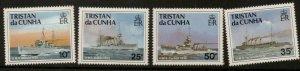 TRISTAN DA CUNHA SG509/12 1991 SHIPS OF ROYAL NAVY MNH