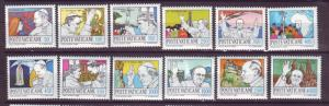 J15850 JLstamps 1984-5 vatican city set mnh #737-48 papal journeys