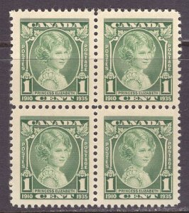 Canada (1935) #211 MNH bloc of 4