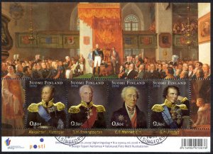 Finland Sc# 1330 FD Cancel Miniature Sheet 2009 Grand Duchy of Russia 200th