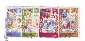 Faroe Islands Sc 86-9 1982 Harra Paetur stamps used