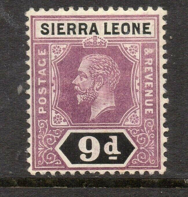 Sierra Leone 1921-28 Early Issue Fine Mint Hinged 9d. 303571