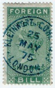 (I.B) QV Revenue : Foreign Bill 4/- (1872) Kleinwort