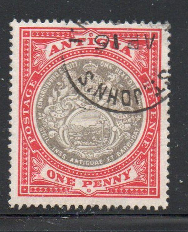 Antigua Sc 22 1903 1 d seal of Colony  stamp used