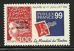 Saint Pierre and Miquelon # 665, Mint Never Hinge
