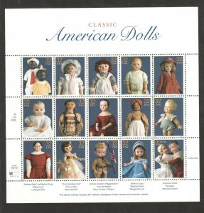 3151 American Dolls Sheet Of 15 Mint/nh Selling At Face