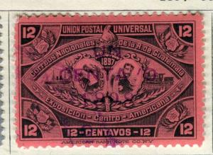 GUATEMALA;  1897 early classic issue fine used  12c. value