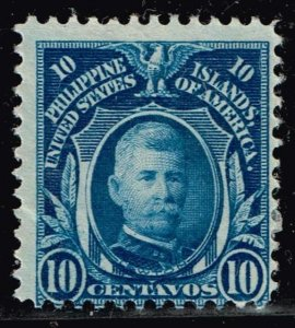 Philippines Stamp #265  1911 10C BLUE UNUSED NG STAMP