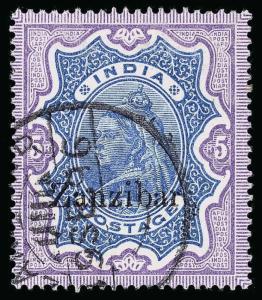 Zanzibar Scott 3-17 Gibbons 3-21 Used Set of Stamps
