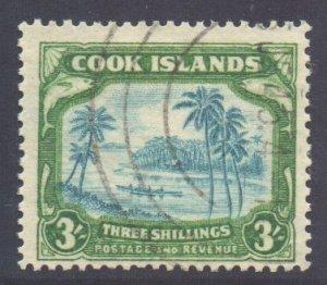 Cook Islands Scott 114 - SG129, 1938 George VI 3/- used