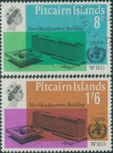 Pitcairn Islands 1966 SG59-60 WHO building set FU