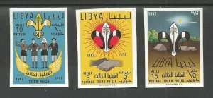 1962 Libya Third Philia Boy Scouts IMPERF