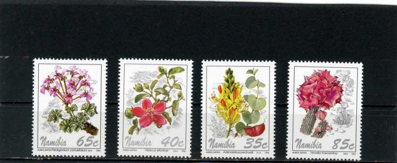 NAMIBIA 1994 Sc#762-765 FLORA FLOWERS SET OF 4 STAMPS MNH