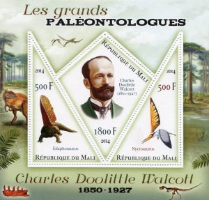 PREHISTORIC ANIMALS Charles Doolittle Walcott s/s Perforated Mint (NH) #2