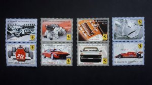 Cars - Ferrari - St. Vincent and the Grenadines 2010 - Complete set ** MNH