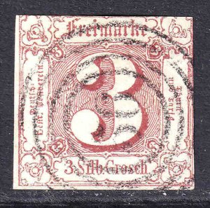 THURN & TAXIS 12 RING CANCEL F/VF $110 SCV