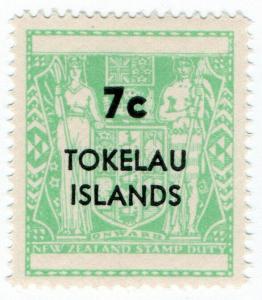 (I.B) New Zealand Revenue : Tokelau Islands Stamp Duty 7c