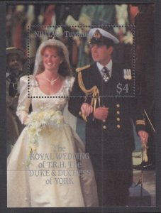 Tuvalu Niutao 53 Royal Wedding Souvenir Sheet MNH VF