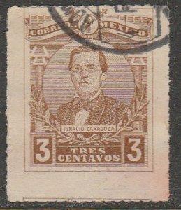 MEXICO 502, 3¢ GEN. IGNACIO ZARAGOZA. USED. VF. (1013)