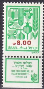 Israel #812  MNH With Tab