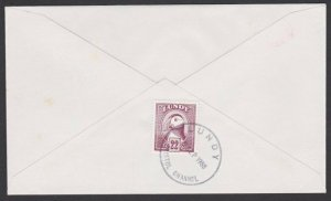 GB LUNDY 1988 cover - Puffin stamp - .......................................F852