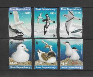 BIRDS - ROSS DEPENDENCY  #L43-8  WWF   MNH