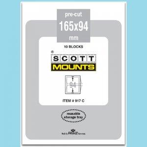 Scott Mounts Black 165/94, 1 Pgk. 10ea. (00917B)