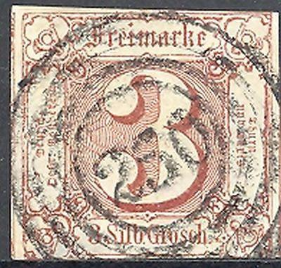 Thurn & Taxis #12 Used XF  perfect #250 cancel