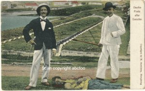 Hongkong Colorized Picture Postcard, Cheefoo Pirate after Execution c.1910.