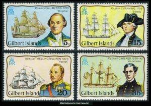 Gilbert Islands Scott 296-299 Mint never hinged.